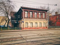 Old brick building. Old twostore brick building in Moscow, Russia Royalty Free Stock Images