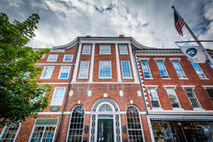 Old brick buildings in Portsmouth, New Hampshire. Royalty Free Stock Photo