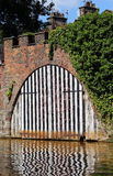 Old Brick Canal Boat Shed Stock Photography
