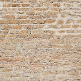 Old brick castle's wall fragment Stock Photography