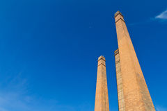 Old brick chimney flue. Royalty Free Stock Photos