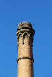 Old brick chimney, industrial archeology Royalty Free Stock Photos