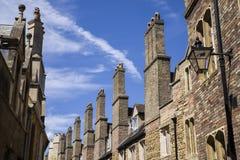 Old Brick Chimneys in Cambridge Stock Image