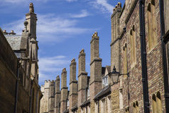 Old Brick Chimneys in Cambridge Royalty Free Stock Images