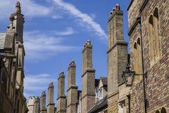 Old Brick Chimneys in Cambridge Stock Photo