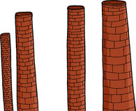 Old Brick Chimneys Royalty Free Stock Images