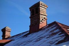 Old brick chimneys Stock Photo