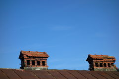 Old brick chimneys Royalty Free Stock Photography