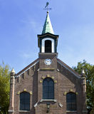 Old Brick Church. Front view of an Old Brick Church near Amsterdam, Netherland Royalty Free Stock Image
