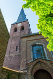 Old brick church in Bedburg Alt-Kaster, Germany Stock Photography