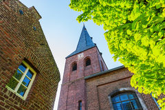Old brick church in Bedburg Alt-Kaster, Germany Royalty Free Stock Image