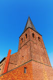 Old brick church in Bedburg Alt-Kaster, Germany Stock Photos