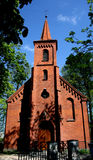 Church. Old brick church in Poland royalty free stock image