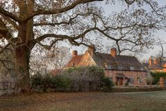 Old brick cottage, Warwickshire Stock Photography