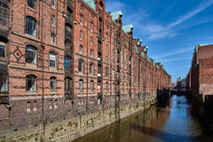 Old Brick Facade of famous Speicherstadt Hamburg Royalty Free Stock Photography