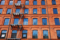 Old brick factory building in Lodz Royalty Free Stock Image