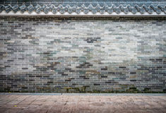 Old brick fence in Chinese style Royalty Free Stock Image