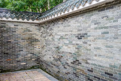 Old brick fence in Chinese style Stock Photography