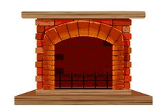The old brick fireplace Stock Photo