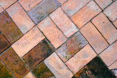 The old brick floor Royalty Free Stock Photos