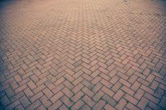 Old brick footpath background walk way. vintage tone Stock Photography