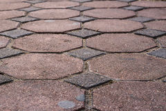 Old brick footpath Royalty Free Stock Photo