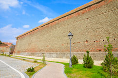 Old brick fortified wall from Alba Iulia Stock Photos