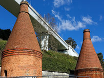 Old brick furnaces and chimneys Royalty Free Stock Photos