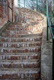 Old Brick Garden Stair. S sunny day Royalty Free Stock Images