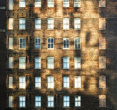 Old brick house. The old brick house in sunshine Royalty Free Stock Image