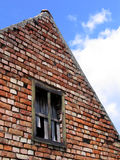 Old brick house. In ruins Stock Image