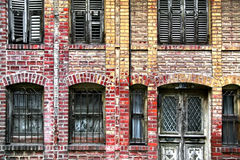 Old brick house Royalty Free Stock Images