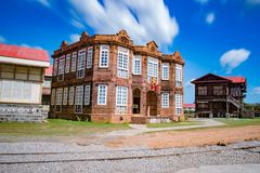Old Brick House, las casas filipinas de acuzar,  Philippines. An Old Mansion from  Spanish colonial era Royalty Free Stock Image