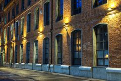 The Facade Of The Old Brick Building In Moscow Stock Photo ...  The Facade Of T...