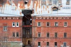 Old brick house  in Nizhny Novgorod, Russia Royalty Free Stock Images