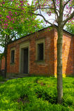 Old brick house in a park of Wilhelma zoo, Stuttgart, Germany. Royalty Free Stock Images