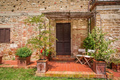 Old brick house in Tuscany Stock Photography