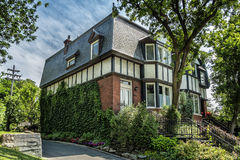 Old brick house. In Westmount, Quebec, Canada Royalty Free Stock Image