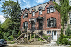 Old brick house. In Westmount, Quebec, Canada Stock Images