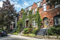 Old brick house. In Westmount, Quebec, Canada Stock Photo
