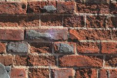 Old brick. Keeps the construction Stock Photography