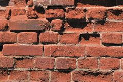 Old brick. Keeps the construction Stock Image