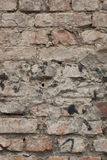 Old brick and mortar wall in decay Royalty Free Stock Images