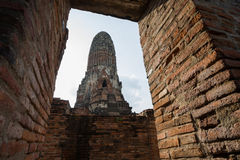 Old brick pagoda in frame Royalty Free Stock Image