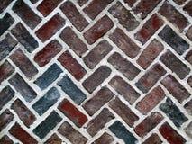 Old Brick Parquet Floor. An old brick parquet pattern floor Royalty Free Stock Photos