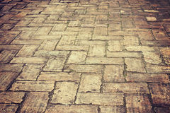 Old brick pathway Stock Images