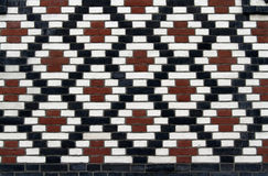 Old brick pattern with rhombus Royalty Free Stock Photography