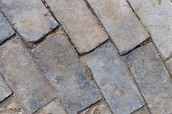 Old brick pavement background Royalty Free Stock Image