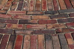 Old Brick Paving Stock Photography