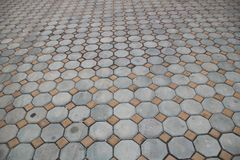 Old brick paving the road in the temple. Royalty Free Stock Photography
